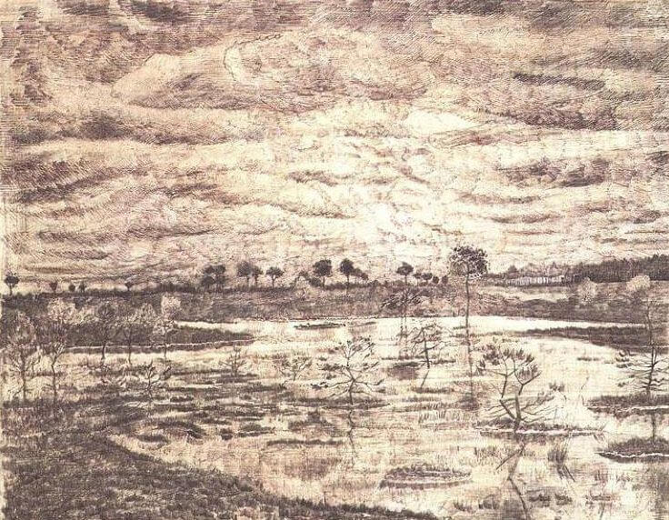 a marsh - by Vincent van Gogh