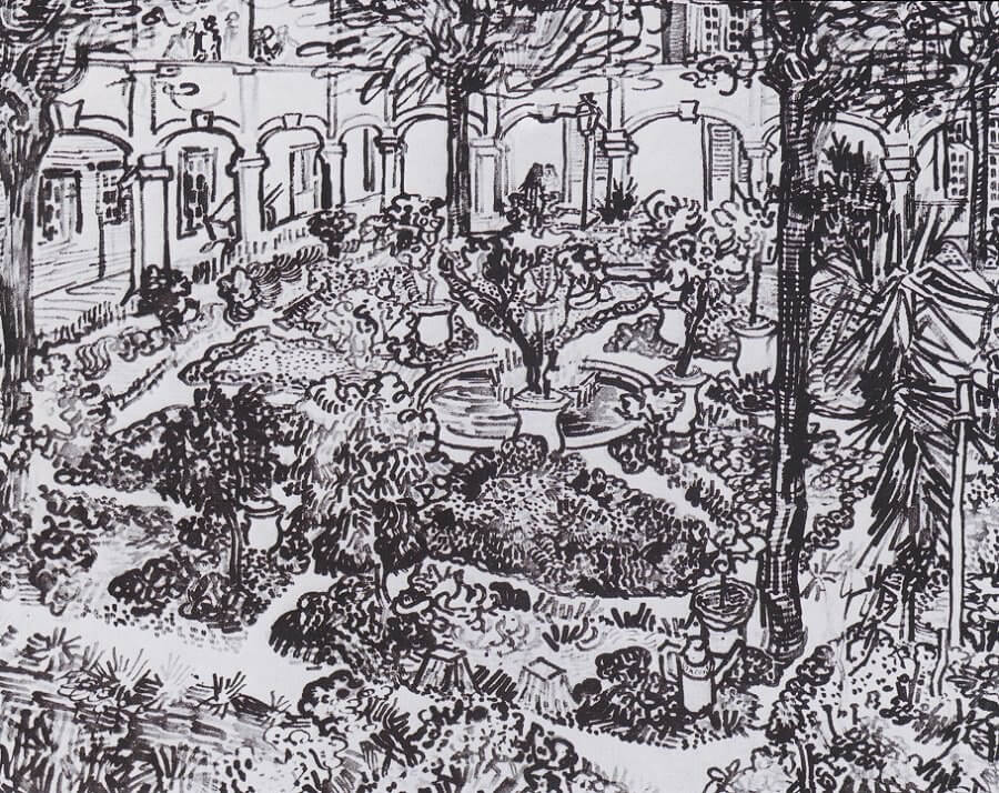 Garden of Hospitals in Arles - by Vincent van Gogh