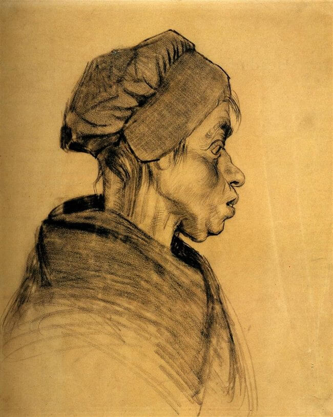 Head of a Woman - by Vincent van Gogh