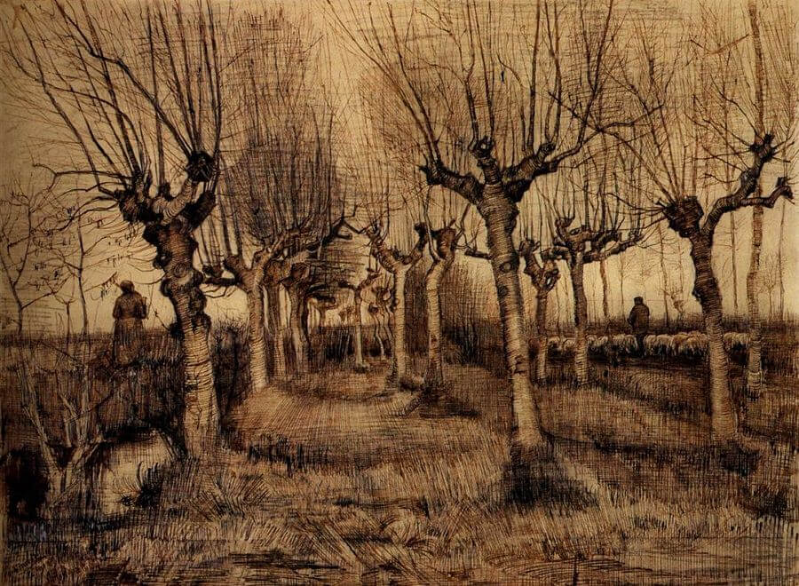 Pollard Birches - by Vincent van Gogh