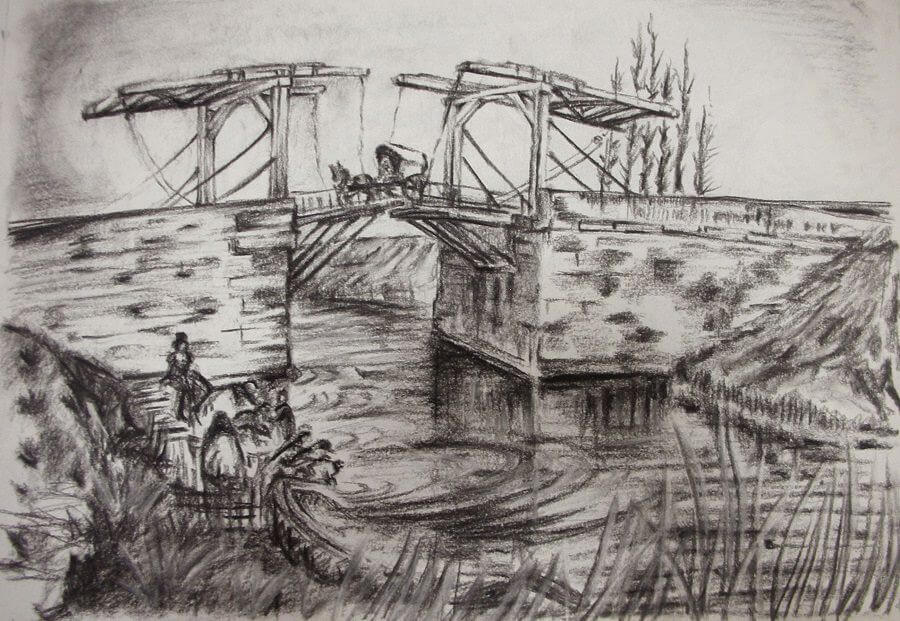The Langlois Bridge - by Vincent van Gogh