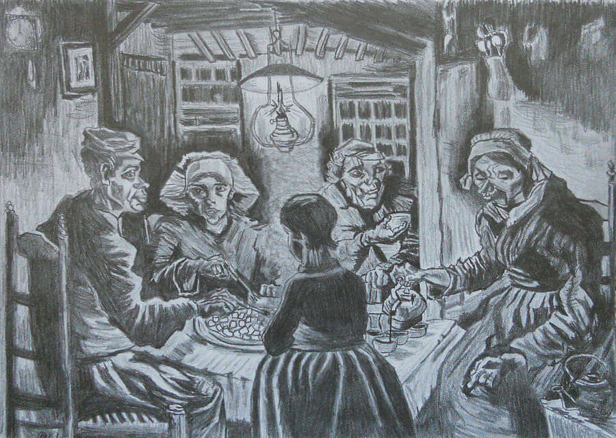 The Potato Eaters - by Vincent van Gogh