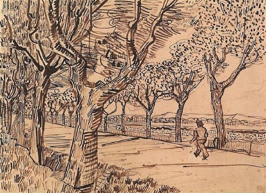 The Road to Tarascon - by Vincent van Gogh