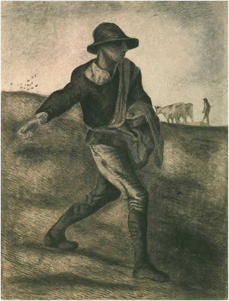 The Sower (after Millet), 1881 by Vincent Van Gogh