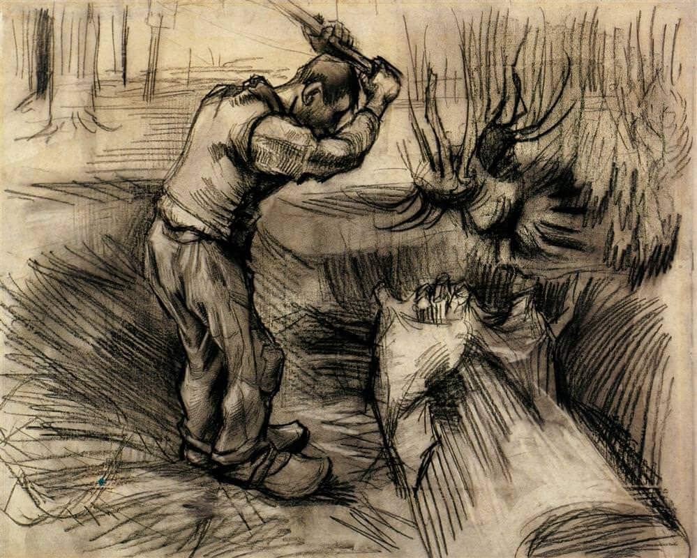 Woodcutter - by Vincent van Gogh