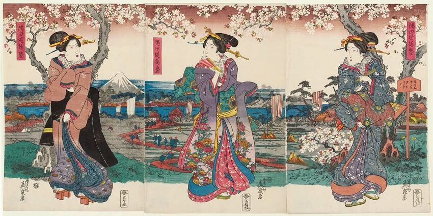 Work of Keisai Eisen's Courtesan