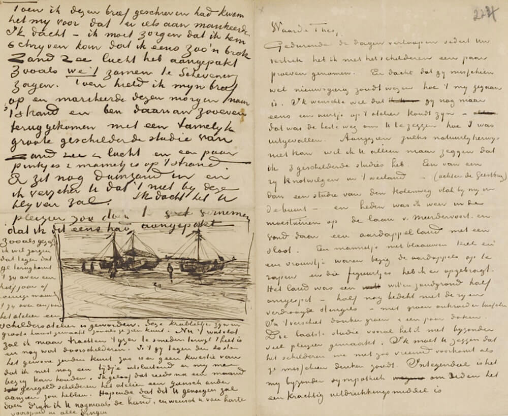 Letter 08/11/1882 - by Vincent van Gogh