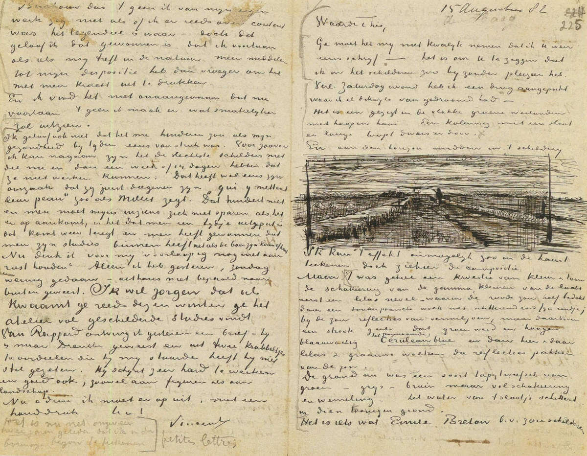 Letter 08/15/1882 - by Vincent van Gogh