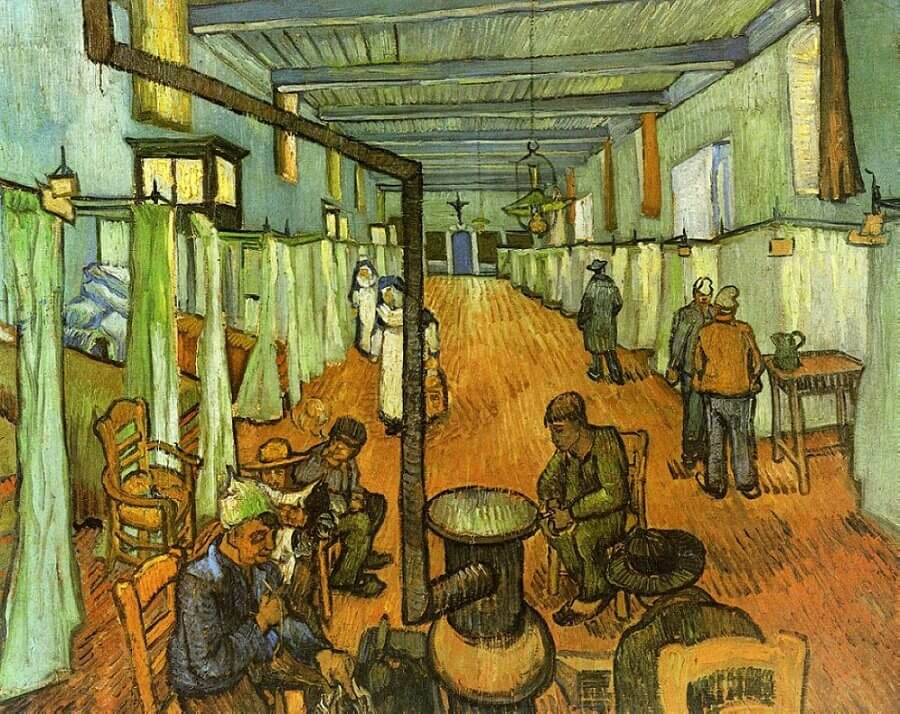 Dormitory at the Hospital in Arles, 1889, by Vincent Van Gogh