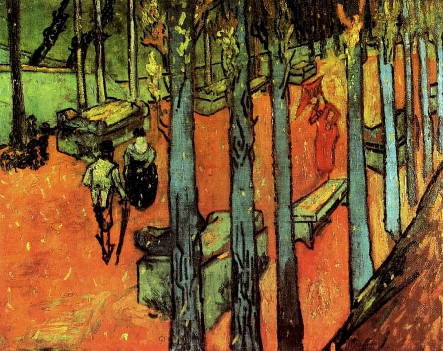 Falling Autumn Leaves I, 1888 by Vincent Van Gogh