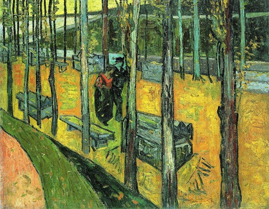 Falling Autumn Leaves II, 1888 by Vincent Van Gogh