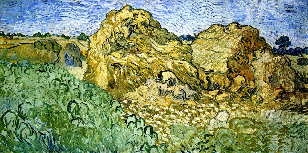 Field with Stacks of Wheat, 1890 by Van Gogh