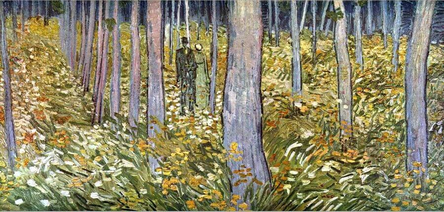 Forest Interio, 1890 by Vincent Van Gogh
