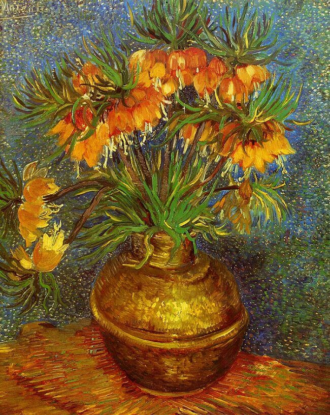 Fritillaries in a Copper Vase, 1887 by Vincent Van Gogh