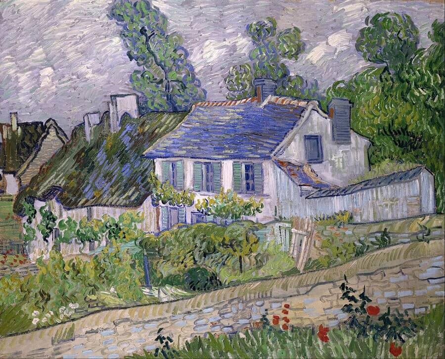 Houses at Auvers, 1890 by Vincent Van Gogh