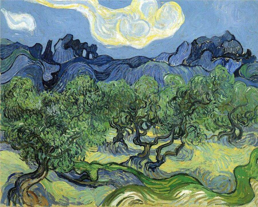 Landscape with Olive Trees, 1889 by Vincent Van Gogh