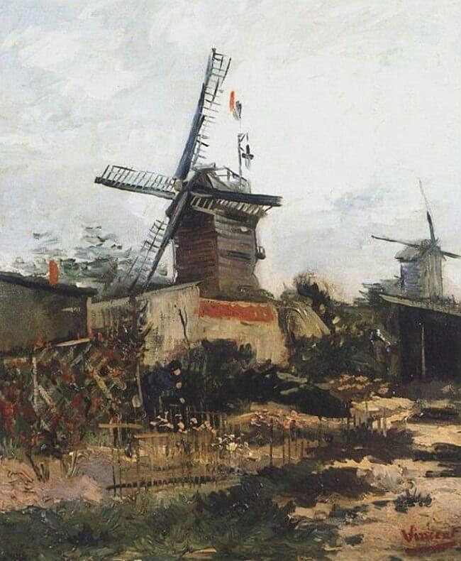Le Moulin de Blute-Fin, 1886 by Vincent Van Gogh