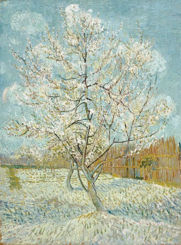 Peach Trees in Blossom, 1888 by Van Gogh