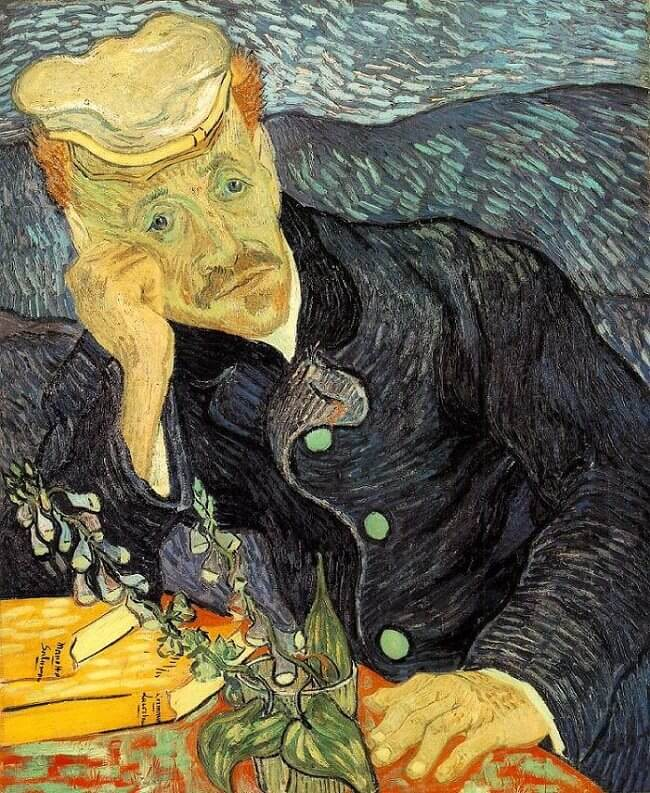 Portrait of Dr. Gachet, 1890 by Van Gogh