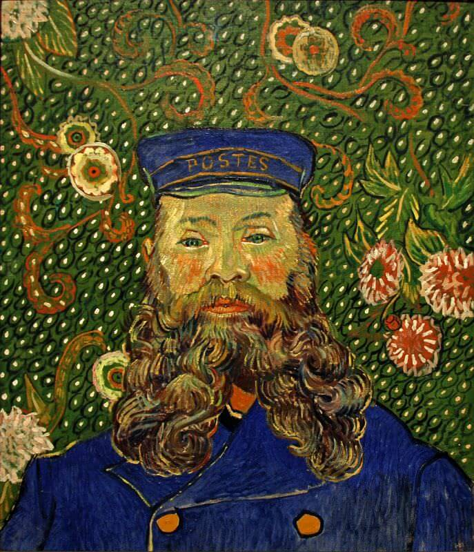 Portrait of Joseph Roulin, 1889 by Vincent Van Gogh