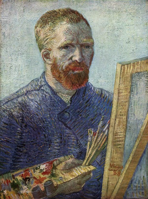 Self Portrait at the Easel, 1888 by Van Gogh