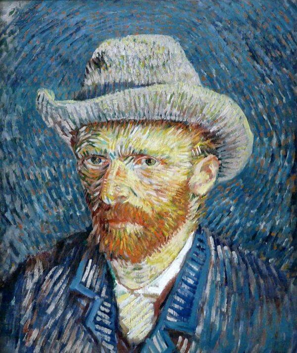 Self Portrait with Grey Felt Hat, 1887 by Vincent Van Gogh