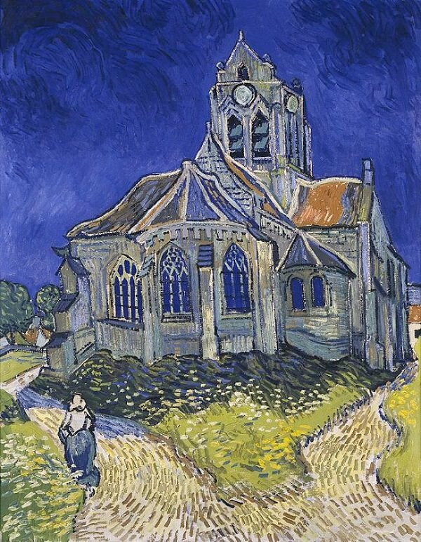 The Church at Auvers, 1890, by Vincent Van Gogh