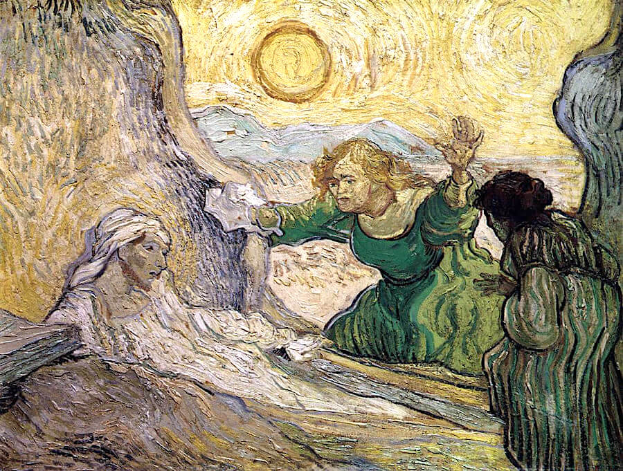The Raising of Lazarus after Rembrandt, 1890 by Vincent Van Gogh