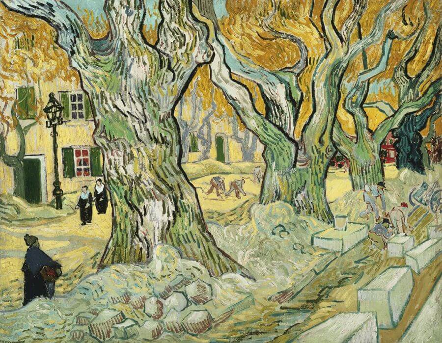 The Road Menders, 1889 by Vincent Van Gogh