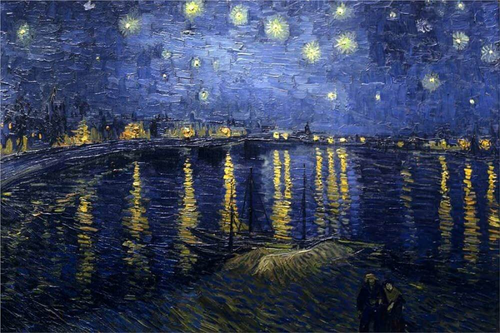 The Starry Night Over The Rhone, 1888 by Vincent Van Gogh