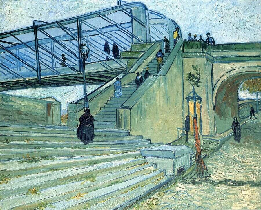 Trinquetaille Bridge in Arles, 1888 by Vincent Van Gogh