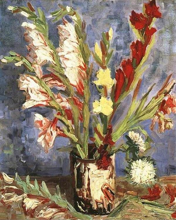 Vase with Gladioli, 1886 by Vincent Van Gogh