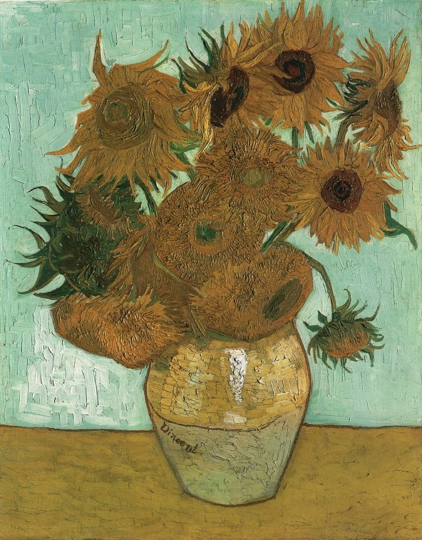 Vase with Twelve Sunflowers, 1888 by Vincent van Gogh
