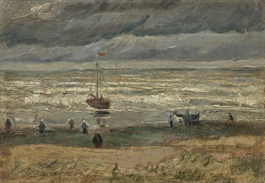 Beach at Scheveningen in Stormy Weather, 1882 by Vincent Van Gogh