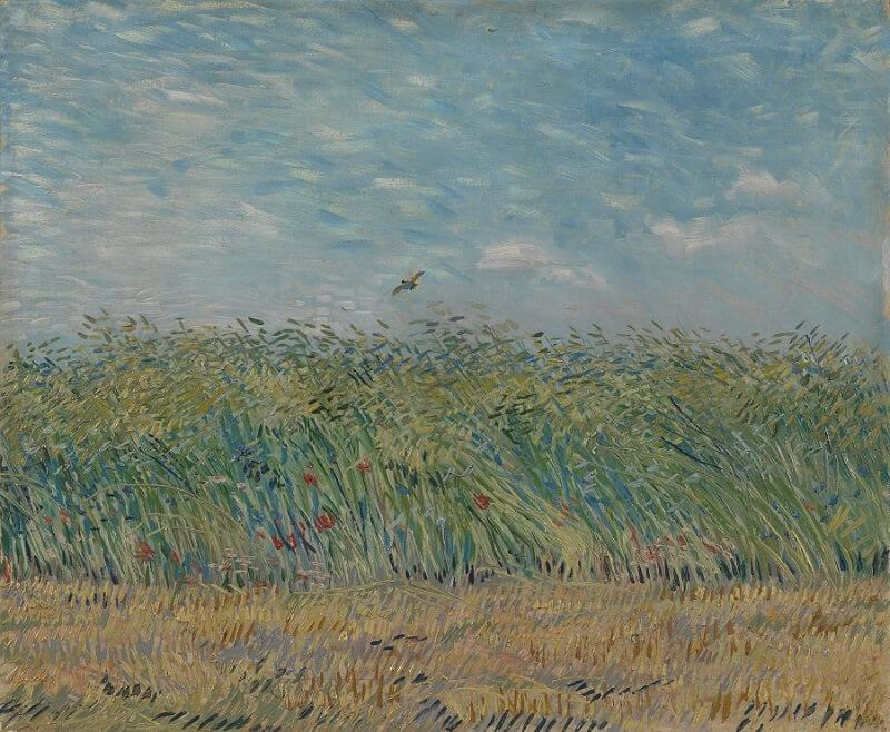 Wheat Field With a Lark, 1887 by Van Gogh
