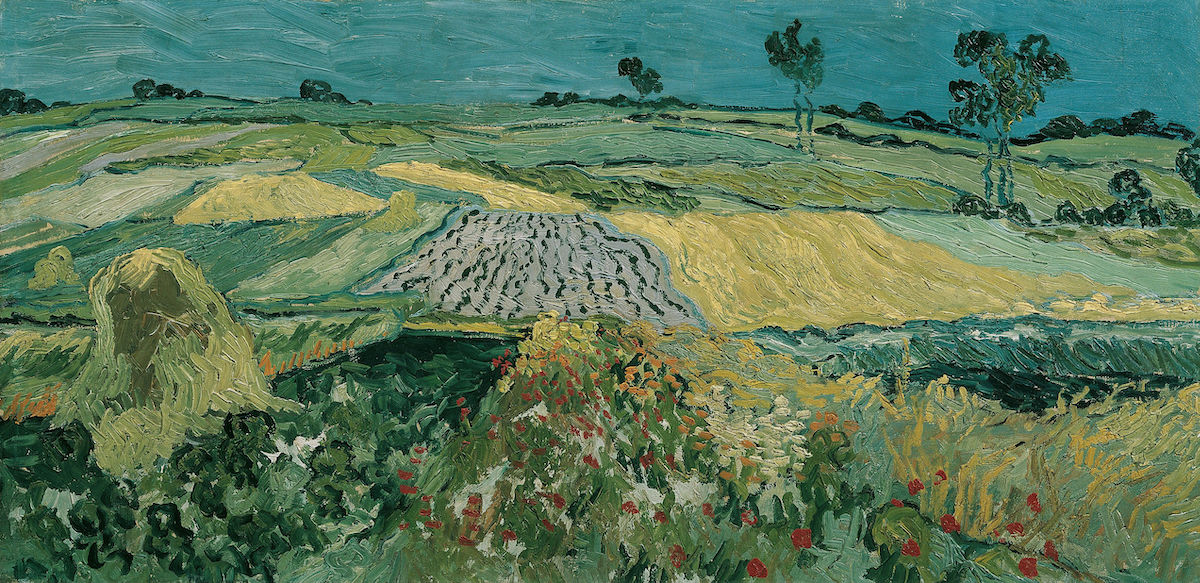 Wheat Fields near Auvers 1888 by Vincent Van Gogh