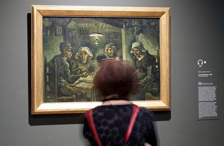 Museum Photo of The Potato Eaters, 1885 by Van Gogh